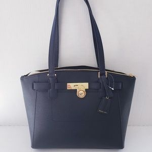 MICHAEL KORS BAG BLACK GOLD HAMILTON TRAVELER